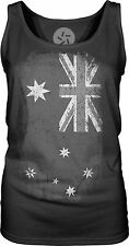 Australian Flag (White) Womens Singlet Tank-Top T-Shirt
