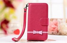 SWEET BOW Leather Wallet Flip Case Cover w/ Stand For SAMSUNG GALAXY S 5 i9600