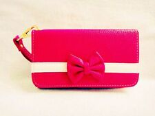 New 3D Cute Bowknot BOW girl Wristlet LEATHER WALLET POUCH PHONE CASE COVER 40