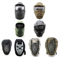 Full Face guard Mask with goggles For WARGAME CS GAME PAINTBALL AIRSOFT TACTICAL