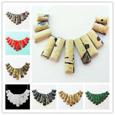 Beautiful 11pcs Mixed Stone Pendant Bead Set Y0233