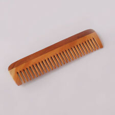 Handcrafted Neem Wood Comb - Anti Dandruff, Non-Static and Ecofriendly - 7 inch