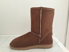 Ugg Boots Classic Short, Synthetic Wool, Colour Chestnut, For Women and Men
