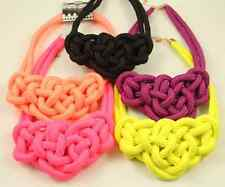 Fashion beautiful handmade Chinese knot Cotton rope charms Necklaces 10 color