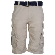 CLEARANCE MENS RODI MOOD A09160 BEIGE BELTED CASUAL SHORTS BOTTOMS