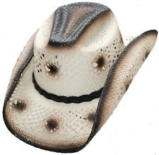 Genuine Western Urban Straw Hat Rodeo, Beach, Cowboy Hat Tan Color S,M,L,XL Size
