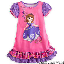 Disney Store Princess Sofia Pink Nightshirt for Girls Pajama Size 4 5 6 7 8 NWT
