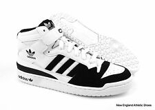 adidas Forum Mid basketball shoes sneakers for men  - Black / White