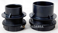 FISH POND THREADED SOLVENT WELD TANK CONNECTOR END CAP WITH RUBBER WASHER SEAL