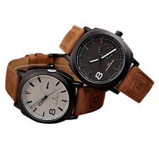 MEN UNISEX USEFUL PRACTICAL CURREN POPULAR QUARTZ ANALOG LEATHER WRIST WATCH NEW