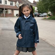 RESULT KIDS CHILDS YOUTHS WATERPROOF RAIN OVER JACKET COAT 2 Cols BOYS GIRLS NEW