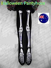 Women Gothic Skull Skeleton Bone Punk Halloween Party Tights Pantyhose Opaques