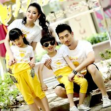 New Summer Angel Family Set Mother Father Girls Boys sets couple clothes 2pcs