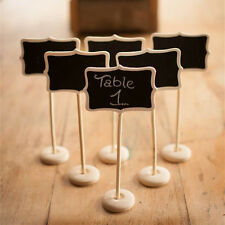 Wooden Black/Chalk board Stand Wedding party Table Number sign stalls Place card