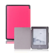 Folio Slim Ultra Stylish Leather Cover Case Hard Shell for Amazon Kindle 4th 5th