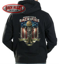 HONOR THEIR SACRIFICE Hooded Sweat Shirt Hoodie ~ Veteran ~ Support the Troops
