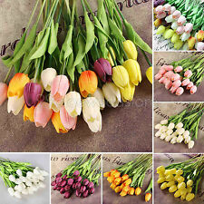 For Wedding Bouquet 6pcs Best Quality Tulip Flower Latex Real Touch  Home Decor