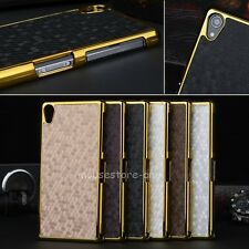 Fashion Luxury PU Leather Shell Hard Plating Cover Case For New Sony Xperia Z2