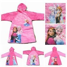 Lovely  Fashion Cute Cartoon Frozen Pattern Pink Siamesed Raincoat S M L XL