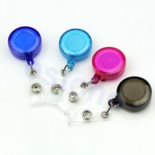 Lot Retractable Pass ID Card Badge Holder Key Chain Ring Reels Keyring With Clip
