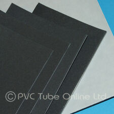 3mm Foam Sheet Sponge Rubber - Adhesive Backed Closed Cell - Charcoal Grey Black