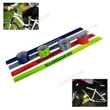 2x Cycling Bike Bicycle Arm Leg Pant Reflective Band Strap Belt Safety Reflector