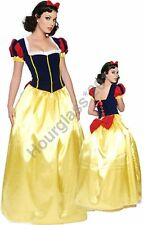 Snow White Long Fancy Dress Adult Sexy Fairy Tale Costume Fantasy Party Outfit
