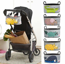 3 Sprouts Stroller Organiser - Pram; Cloth, Diaper Holder, Bag