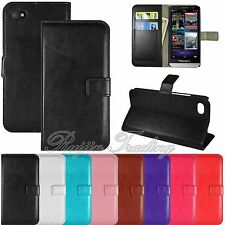 PREMIUM Luxury PU Leather Wallet-Style Case Flip Cover Stand For Blackberry Z30