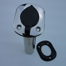 Kinds Of Marine Stainless Steel 15° 30° 90° Angled Fishing Rod Holder With Caps
