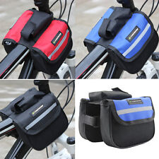 Bicycle Cycling Sport Bike Frame Front Tube Double Side Bag Accessories-3 Colors