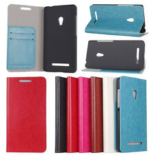 PU Leather Card Holder Wallet Cover Case Stand For ASUS ZenFone 5 New