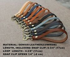 Genuine Leather Replacement Clip-On Wrist Strap For Clutch/Purse/Pouch/Camera