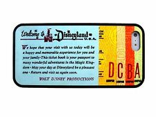 NEW DISNEY DISNEYLAND TICKET BOOK FOR IPHONE 4 4S 5 5S 5C RUBBER SKIN CASE COVER