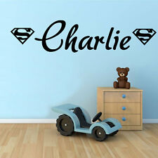 Superman emblem with Any Name, Transfer, wall sticker, wall art, Kids Bedroom