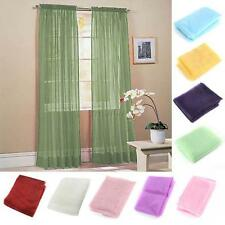 Chic Scarf Sheer Window Curtain / Drapes Panel, Single,Grommet Or Scarf For Rods