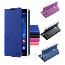 Flip Stand PU Leather Case Cover +Film Screen Protector For Nokia Lumia 625 /925
