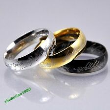 Mutil Color &Size Ring Lord of the Rings Stainless Steel Men's Women's Band Ring