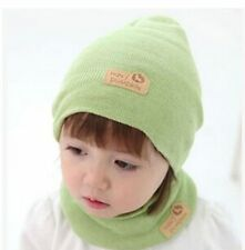 2014 new South Korea sets new monochrome knitted baby hats scarf hat suit