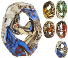 New Style Animal Print Infinity Loop Scarf Shawl Stole Neckerchief Circle Wrap