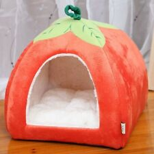 New Cute Cozy Pumpkin Pet Dog Cat Tent Folded House Puppy Bed Kennel
