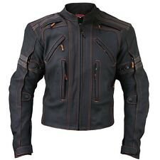 Vulcan VTZ-910 Street Motorcycle Jacket premium cowhide leather Removable Armor