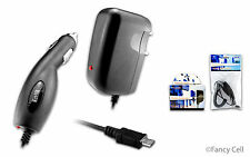 Universal Micro USB Battery Home Wall + Car Charger Adaptor Combo For Cell Phone