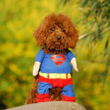 Funny Pet Cat Dog Puppy Clothes Costumes Apparel T Shirt Superman Suit