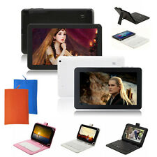 "9"" Android 4.4 Tablet PC WIFI Capacitive Dual Core Cam HDMI 8GB w/ Keyboard+Bag"