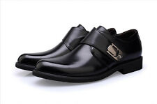 MENS Business Casual Black&Brown Leather Shoes Round Head Shoes