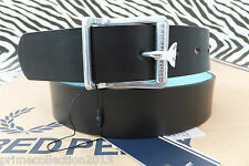 FRED PERRY Genuine BT9402 Men's SMART Leather CONTRAST REVERSIBLE Belt BNWT