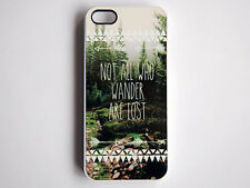 Tolkien All Who Wander iPhone Case 5S-5C-5-4S-4 Rubber Wanderlust LOTR