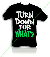 New TURN DOWN FOR WHAT SHIRT T-Shirt rave party dance hip hop weed high music
