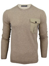 Mens French Connection/ FCUK Lambswool Crew Neck Jumper with Pocket